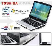 Notebook Thoshiba Dual Core 1GB RAM c/ Windows Vista Home Premium Original - Garantia 1 ano