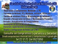 Servicio Tecnico Profesional PC Y NOTEBOOK - Internet / Multimedia - Pelarco