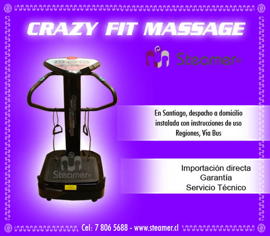 plataforma vibratoria crazy fit massage - Deportes - Estación Central