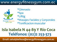Spas en Quito :: Energy Fitness Gym :: Gimnasio y Spa en Quito - Masajes - Quito