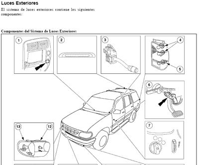 Fotos de manual de reparacion y servicio para ford explorer Mercury
