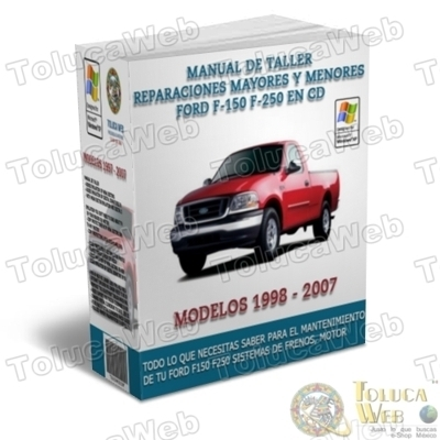 Manual de Mantenimiento Mecánico Ford Pickup F150 F250 F350 Cursos  - Carros - Distrito Federal