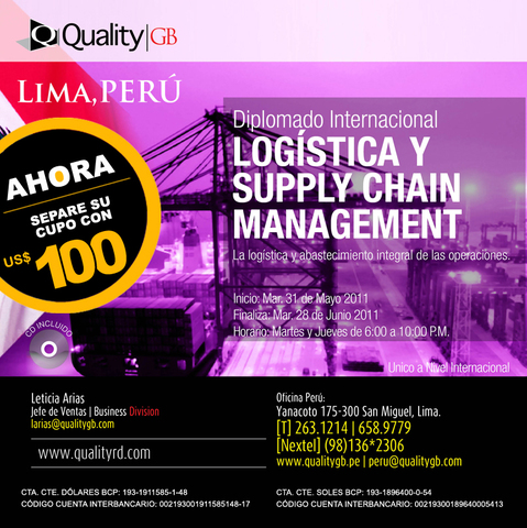 Diplomado en Logistica y Supply Chain Management - Otros Cursos - Lima