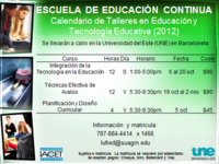 CURSO EN EDUCACION Y TECNOLOGIA EDUCATIVA - Universidades - Barceloneta